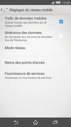 Sony Xperia Z2 - Internet et roaming de données - Comment vérifier que la connexion des données est activée - Étape 8