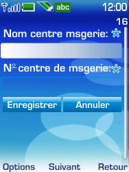 Nokia 6233 - SMS - configuration manuelle - Étape 8