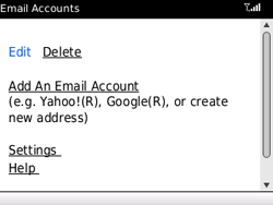 BlackBerry 8520 - E-mails - Ajouter ou modifier un compte e-mail - Étape 10