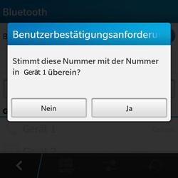 BlackBerry Q10 - Bluetooth - Geräte koppeln - Schritt 10