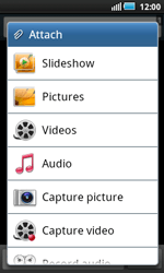 Samsung I5800 Galaxy Apollo - MMS - Sending pictures - Step 6