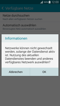 Samsung Galaxy Note 4 - Netzwerk - Manuelle Netzwerkwahl - Schritt 10