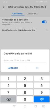 Huawei P30 Pro - Sécuriser votre mobile - Personnaliser le code PIN de votre carte SIM - Étape 9
