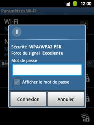 Samsung S5360 Galaxy Y - Wifi - configuration manuelle - Étape 7