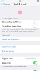 Apple iPhone 6 Plus iOS 8 - Sécuriser votre mobile - Activer le code de verrouillage - Étape 7