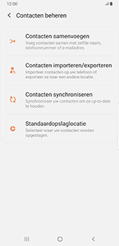 Samsung Galaxy S8+ - Android Pie (SM-G955F) - Contacten en data - Contacten kopiëren van SIM naar toestel - Stap 6