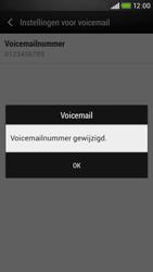 HTC Desire 601 - Voicemail - Handmatig instellen - Stap 8