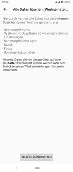 Sony Xperia 5 - Gerät - Zurücksetzen auf die Werkseinstellungen - Schritt 8