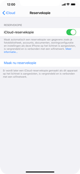 Apple iPhone XS Max - iOS 13 - toestel resetten - back-up maken met jouw account - stap 14