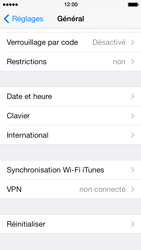Apple iPhone 5 iOS 7 - Téléphone mobile - Réinitialisation de la configuration d