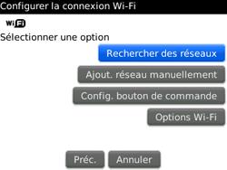 BlackBerry curve 3G - Internet et connexion - Accéder au réseau Wi-Fi - Étape 6