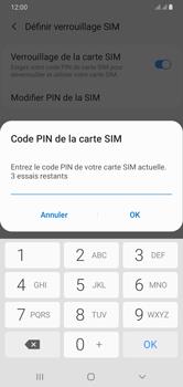 Samsung Galaxy A10 - Sécuriser votre mobile - Personnaliser le code PIN de votre carte SIM - Étape 9