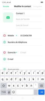 Oppo A9 2020 - Contact, Appels, SMS/MMS - Ajouter un contact - Étape 10