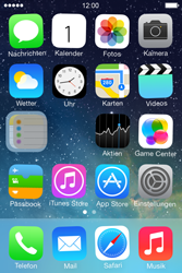 Apple iPhone 4S iOS 7 - Startanleitung - Personalisieren der Startseite - Schritt 4