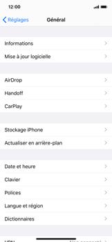 Apple iPhone X - iOS 13 - Prise en main - Comment ajouter une langue de clavier - Étape 4