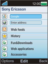 Sony W595 - Internet - Manual configuration - Step 4