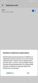 Huawei P30 - Rete - Selezione manuale della rete - Fase 7