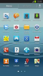 Samsung Galaxy S III - Startanleitung - Installieren von Widgets und Apps auf der Startseite - Schritt 4