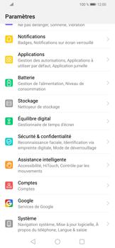 Huawei P Smart (2019) - Aller plus loin - Restaurer les paramètres d'usines - Étape 3