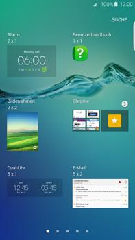Samsung Galaxy S6 edge+ (G928F) - Startanleitung - Installieren von Widgets und Apps auf der Startseite - Schritt 5
