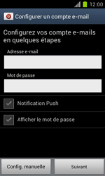Samsung Galaxy S II - E-mail - Configuration manuelle - Étape 6