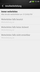 HTC Desire 601 - Anrufe - Rufumleitungen setzen und löschen - 8 / 9