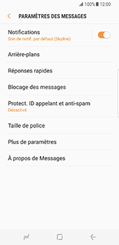 Samsung Galaxy S8 - SMS - configuration manuelle - Étape 6