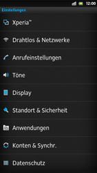 Sony Xperia S - Fehlerbehebung - Handy zurücksetzen - 6 / 10