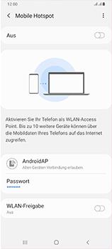 Samsung Galaxy A70 - WiFi - So aktivieren Sie einen WLAN-Hotspot - Schritt 12