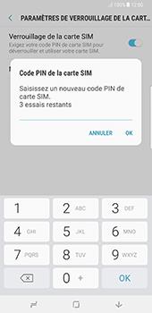 Samsung Galaxy Note 8 - Sécuriser votre mobile - Personnaliser le code PIN de votre carte SIM - Étape 9