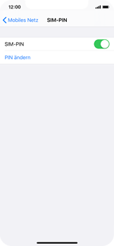 Apple iPhone X - iOS 13 - Startanleitung - So aktivieren Sie eine SIM-PIN - Schritt 8