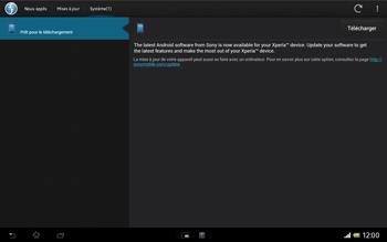 Sony Xperia Tablet Z LTE - Logiciels - Installation de mises à jour - Étape 9