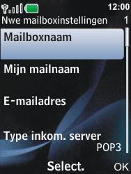 Nokia 6600i slide - E-mail - Handmatig instellen - Stap 14