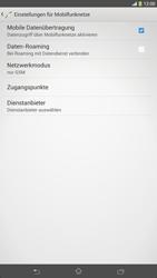 Sony Xperia Z Ultra LTE - Netzwerk - Netzwerkeinstellungen ändern - 1 / 1