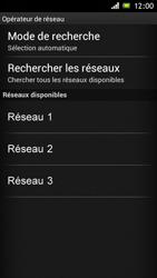 Sony Xperia J - Réseau - Sélection manuelle du réseau - Étape 8