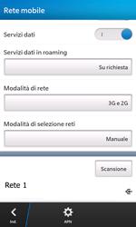 BlackBerry Z10 - Rete - Selezione manuale della rete - Fase 11
