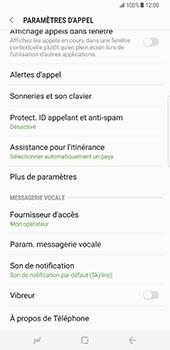 Samsung Galaxy S8 Plus - Messagerie vocale - configuration manuelle - Étape 7