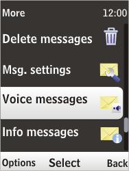 Nokia 6303i classic - Voicemail - Manual configuration - Step 5