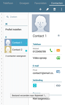 Samsung Galaxy Tab4 8.0 4G (SM-T335) - Contacten en data - Contacten overzetten via Bluetooth - Stap 12