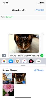 Apple iPhone X - iOS 12 - MMS - afbeeldingen verzenden - Stap 12