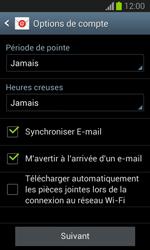 Samsung S7390 Galaxy Trend Lite - E-mail - Configuration manuelle - Étape 18