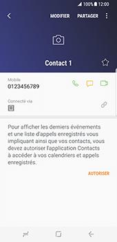 Samsung Galaxy S8 - Contact, Appels, SMS/MMS - Ajouter un contact - Étape 7