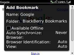 BlackBerry 8520 Curve - Internet - Internet browsing - Step 6