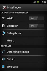 Sony ST21i Xperia Tipo - netwerk en bereik - gebruik in binnen- en buitenland - stap 4