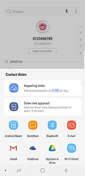 Samsung Galaxy S8 - Android Oreo - Contactgegevens overzetten - delen via Bluetooth - Stap 8