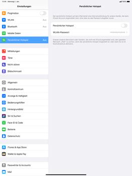 Apple iPad Pro 12.9 (1st gen) - ipados 13 - WiFi - So aktivieren Sie einen WLAN-Hotspot - Schritt 6