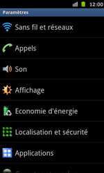 Samsung I9070 Galaxy S Advance - Wifi - configuration manuelle - Étape 3
