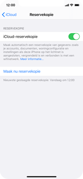 Apple iPhone X - iOS 13 - toestel resetten - back-up maken met jouw account - stap 16