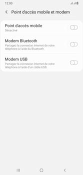 Samsung Galaxy A10 - Internet et connexion - Utiliser le mode modem par USB - Étape 7