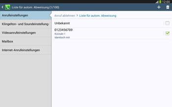 Samsung Galaxy Tab 3 10-1 LTE - Anrufe - Anrufe blockieren - 13 / 14